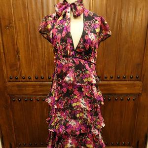 Bebe Maxi Length ruffle dress Size Small